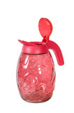 Red glass jug . Stock Image