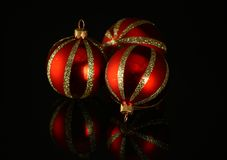 Red glass ornament Royalty Free Stock Photography