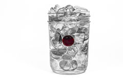 Red glass pebble Stock Images