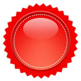 Red glass price tag Stock Photography