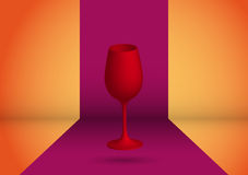 Red glass Royalty Free Stock Photography