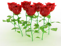 The red glass roses №5 Stock Image