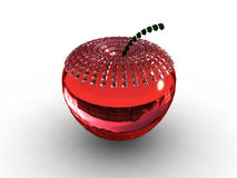 Red glass/ruby apple background Royalty Free Stock Images