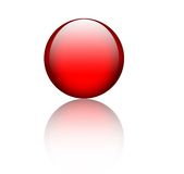 Red glass sphere Royalty Free Stock Photo