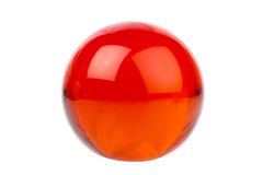 Red glass sphere Stock Images