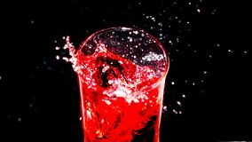 The Red in glass splash royalty free stock images