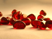 Red glass stones Stock Images
