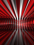 Red glass structure Stock Images
