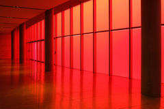 Red glass sun wall Stock Photo