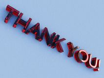Red glass thank you logo royalty free illustration