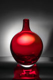 Red glass vase Stock Images