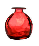 Red glass vase Stock Image