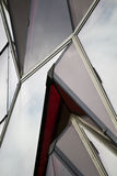 Red Glass Windows Stock Image