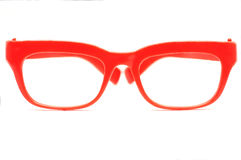 Red glasses. Isolated in a white background Stock Photos
