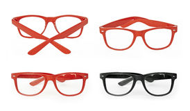 Red Glasses Stock Image