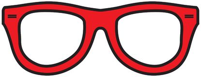 e675f0654a3 Red Glasses Frames. Stylized classic frame for glasses red. Vector  illustration vector illustration