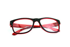 Red glasses isolate over the white background Stock Image