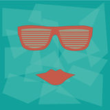 Red glasses Royalty Free Stock Images