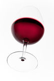 Red glasswine seen from below. Glass of red wine. Shot from below Stock Image