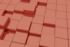 Red glassy cubes Royalty Free Stock Photography