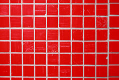 Red glazed tile Royalty Free Stock Images