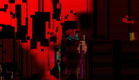 Red Glitch Abstract Background. Technical problem royalty free illustration
