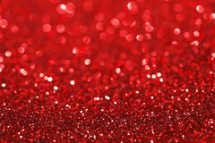 Red glitter background Stock Images