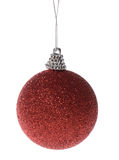 Red glitter ball Stock Photos