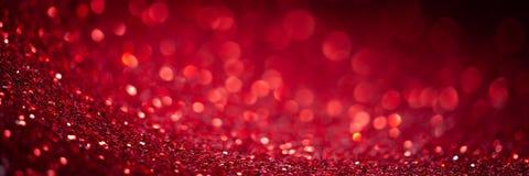 Red Glitter Banner stock images