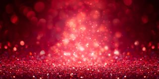 Red Glitter Banner royalty free stock photo