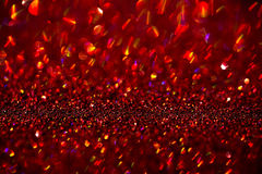 Red glitter bokeh background Stock Photos