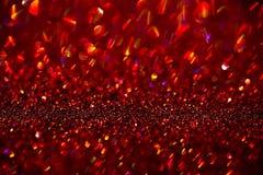 Red glitter bokeh background Stock Photos