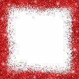 Red glitter border frame Royalty Free Stock Image