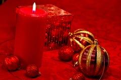 Red Glitter Christmas Stock Photos
