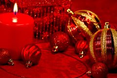 Red Glitter Christmas Stock Images