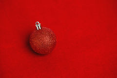 Red glitter christmas ball decoration Stock Images