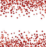 Red glitter confetti borders Royalty Free Stock Images