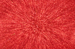Red glitter explosion lights abstract background Stock Image