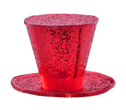 Red glitter hat. On a white background Stock Image
