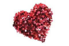 Red glitter heart Stock Image