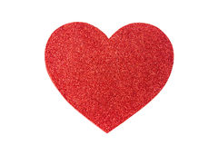 Red glitter heart Stock Photography