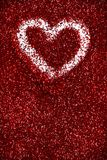 Red glitter hearts Valentine's Day abstract background love sparkle. Red glitter Valentine's Day theme abstract background love sparkle royalty free stock images