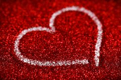 Red glitter hearts Valentine's Day abstract background love sparkle Stock Photography