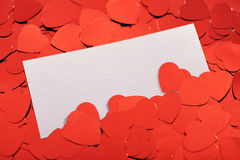 Red glitter hearts Royalty Free Stock Photos