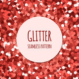 Red glitter seamless pattern Royalty Free Stock Photography
