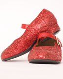 Red glitter shoes Stock Images