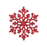 Red glitter snowflake Stock Image
