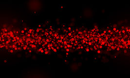 Red glitter sparkle on black Royalty Free Stock Photo