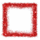 Red glitter square frame Royalty Free Stock Image