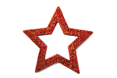 Red glitter star Stock Photo
